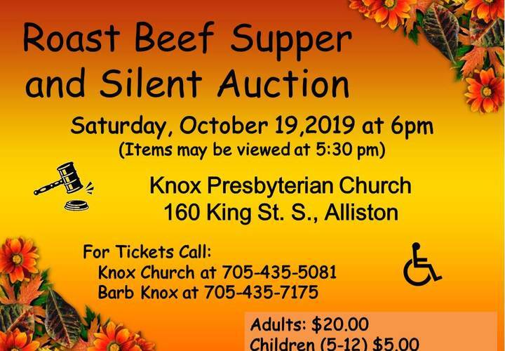 Roast beef   silent auction 2019