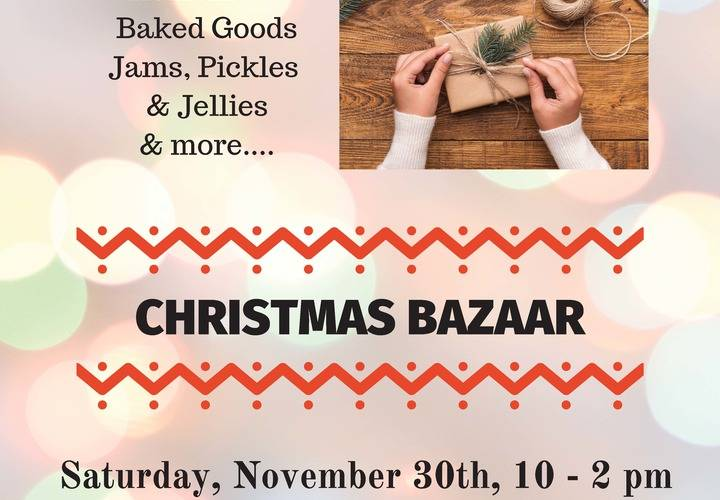 2019 ascension christmas bazaar poster