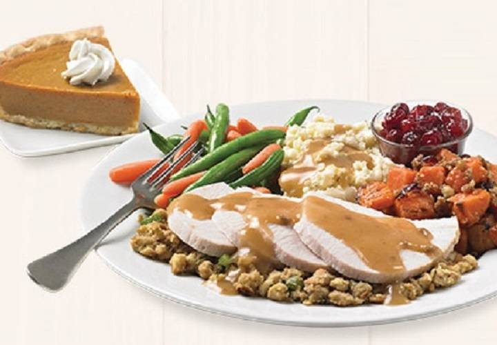 Freshly roasted turkey dinner menu