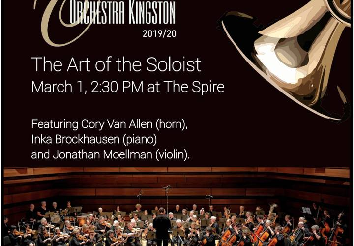 art of the soloist  orchestra kingston 1 march poster
