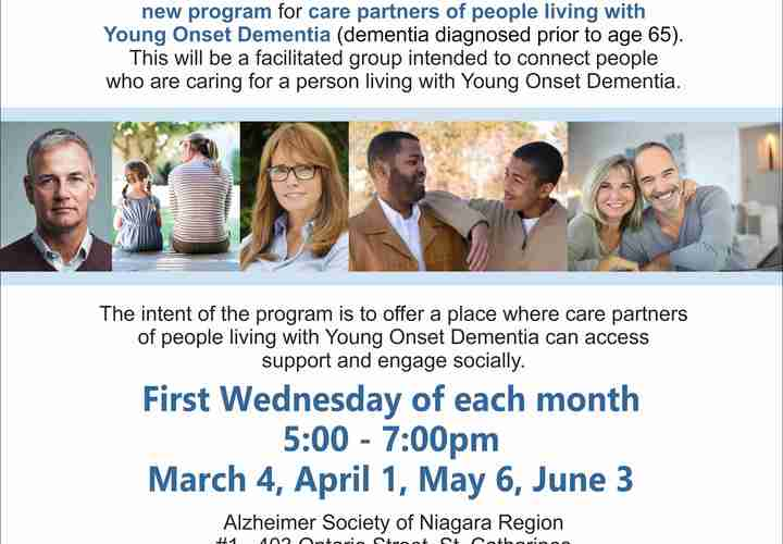 Young onset dementia care partner group