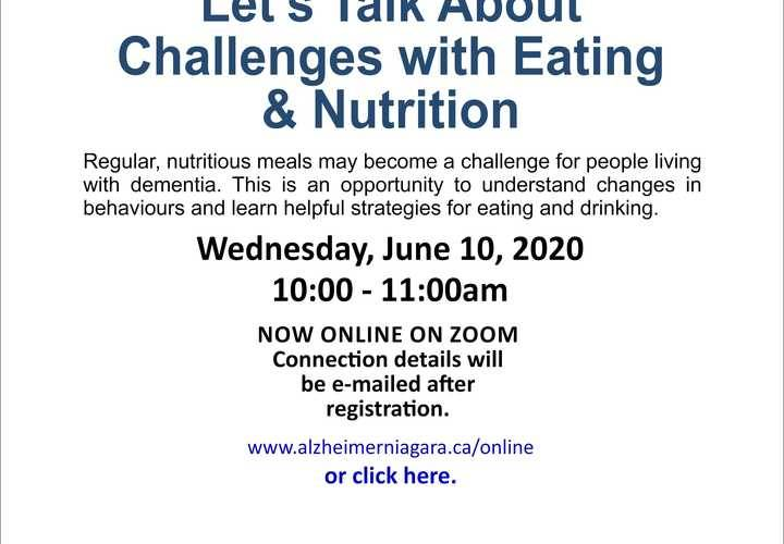 Lets talk about challenges with eating   nutrition june 10