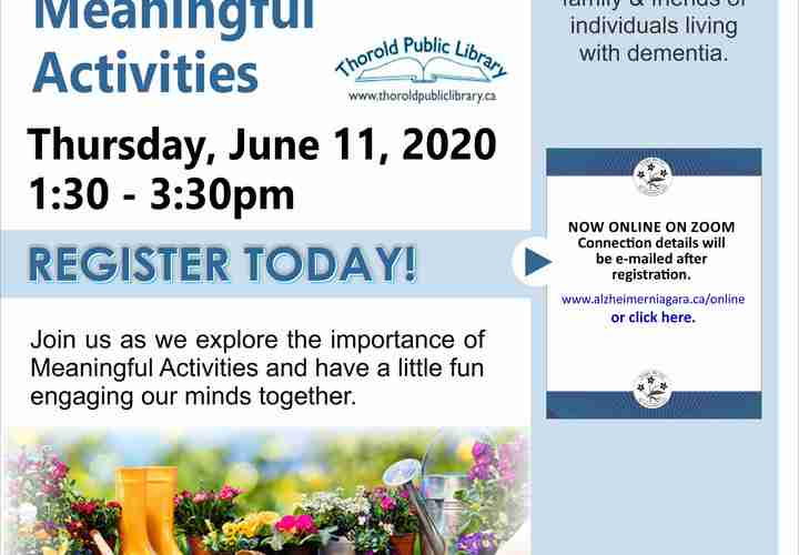 Engaging in meaningful activities june 22