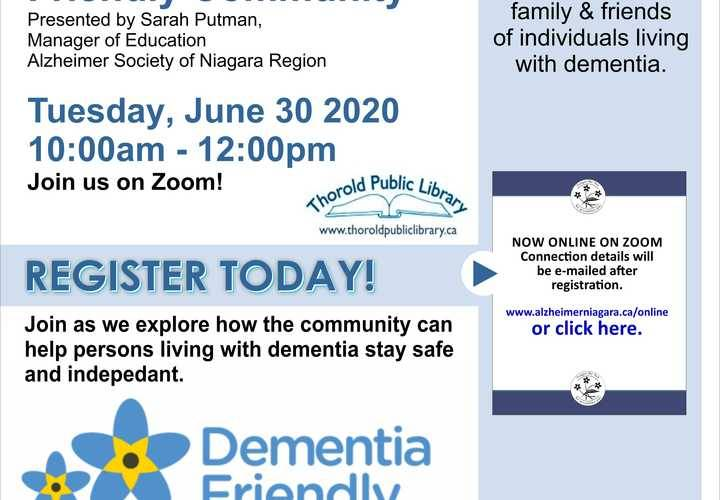 Creating a dementia friendly community june 30 2020