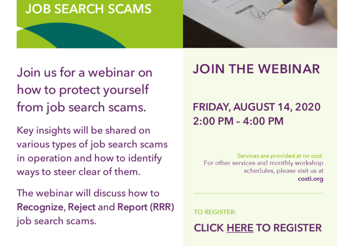 Protecting yourself against job search scam aug 14  2020