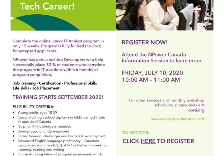 Npower canada info session july 10 finalized