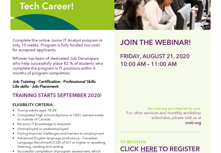 Npower   junior it analyst info session august 21 2020