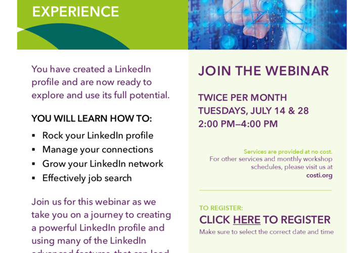 Using linkedin for job search webinar  july 2020