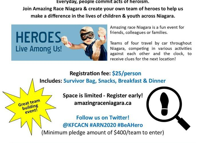 Amazing race niagara 2020 flyer