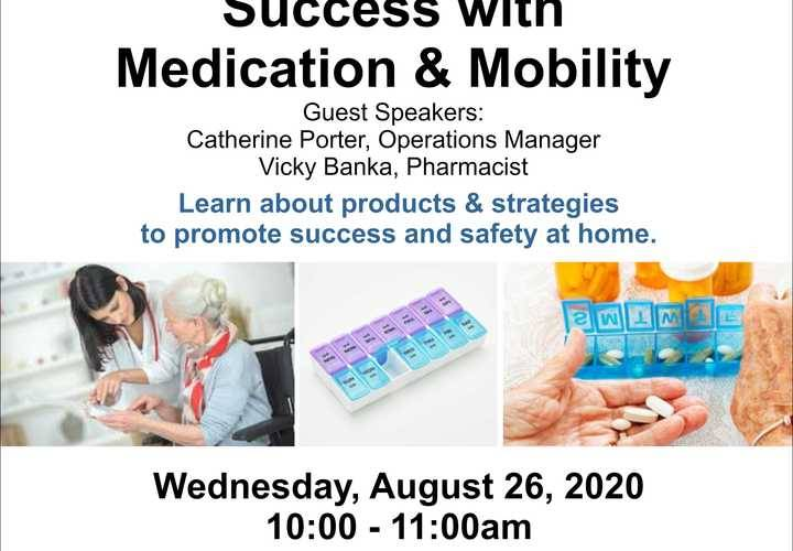 Caregiver wellness medication and mobility august 26