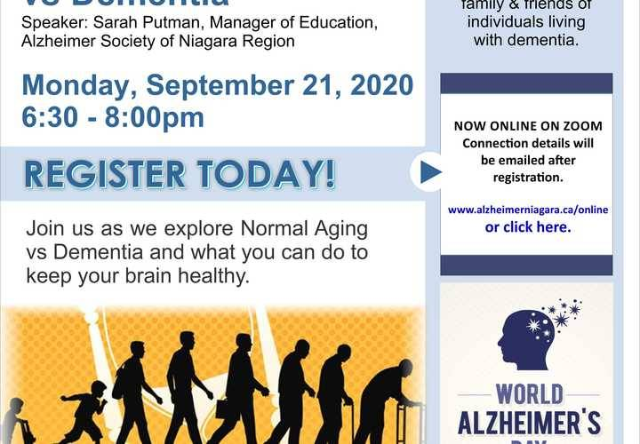 Normal aging vs dementia sept 21
