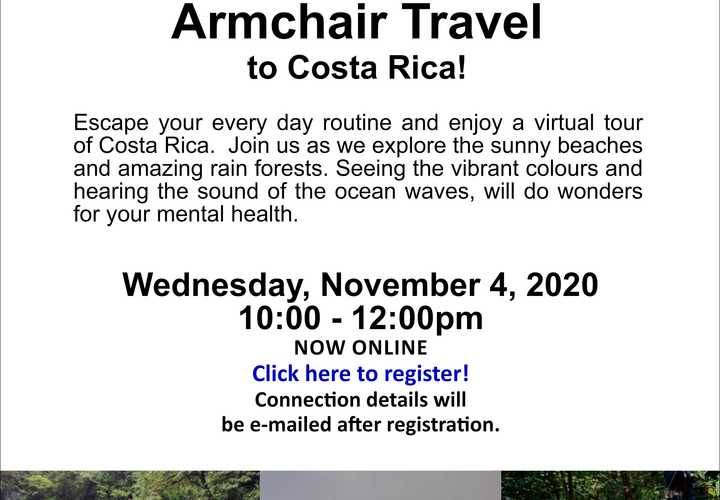 Caregiver wellness armchair travel to costa rica