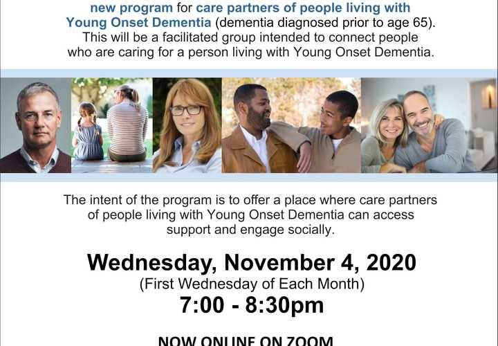 Young onset dementia care partner group nov