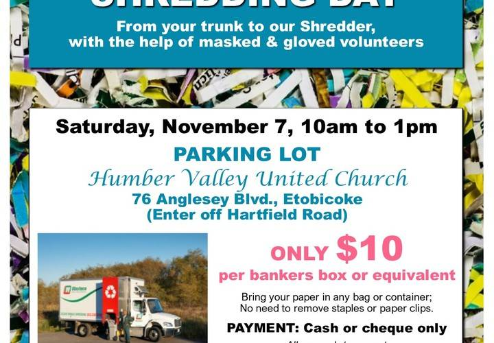2020 10 shredding day flyer