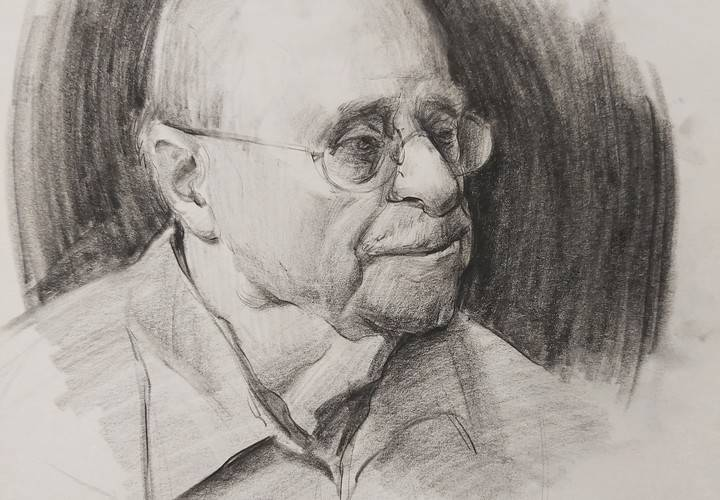 Demo graphite portrait shading life drawing advanced