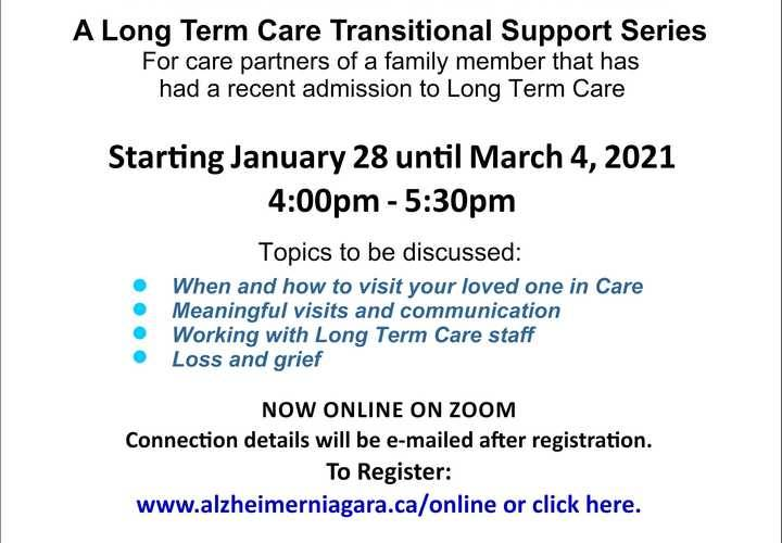 Ltc transitional self health series january 28 2021