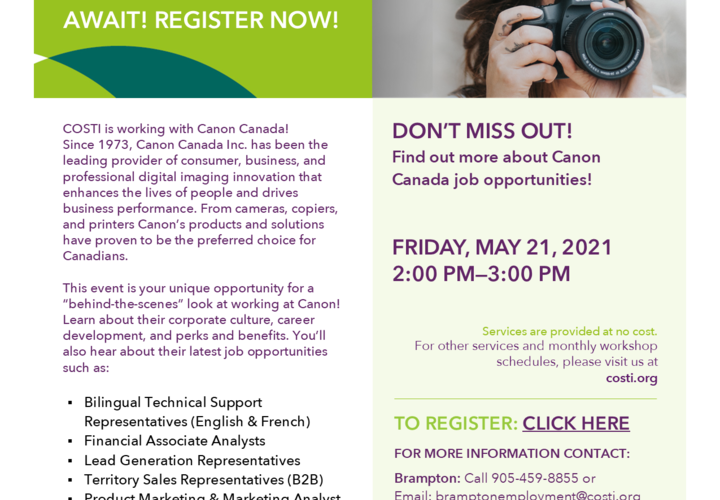 Focused on career at canon canada fimal