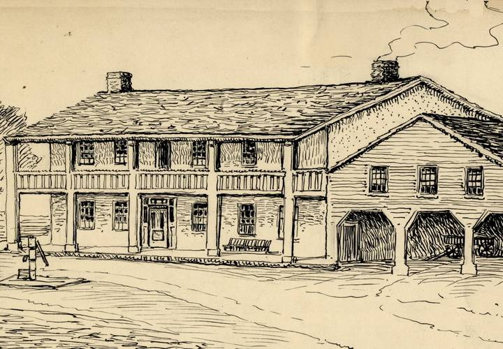 Shepheardson hotel  yonge street thornhill inscribed in pen and black ink 1910