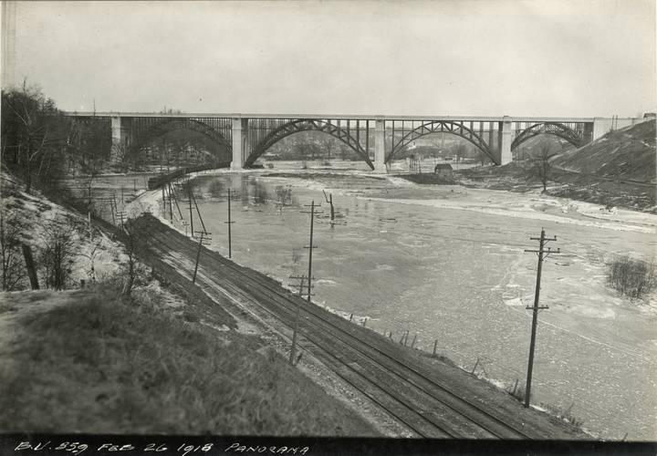Bloor street viaduct  panorama  feb. 26  1918