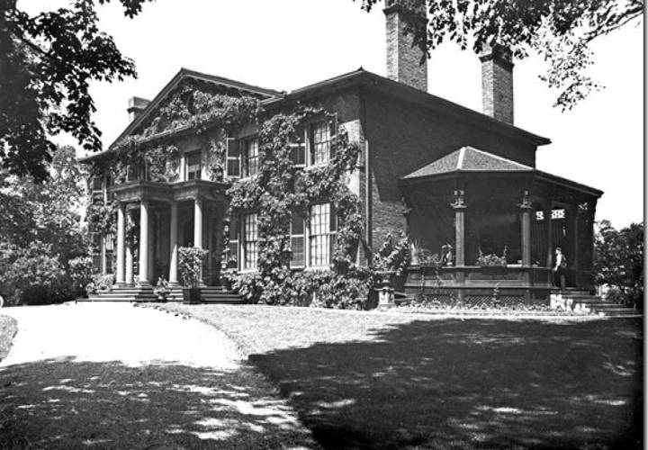 The grange in 1907  when it was the home of goldwin and harriet smith.
