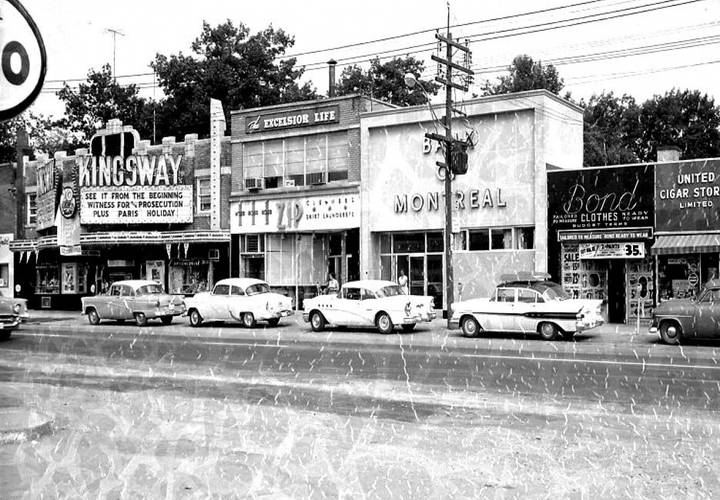 The section of bloor west where the kingsway theatre is located  c. 1960 resized. 1960 resized