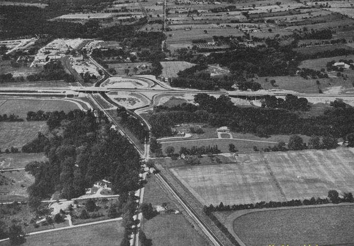 1956 facing west from the lansing cutoff interchange  today s port union road resized
