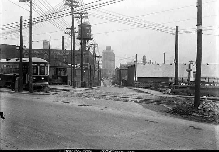 Sterling rd looking north from dundas st in the early 1920s. resized