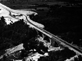 The queen elizabeth way facing west towards the future bronte road interchange in 1959.