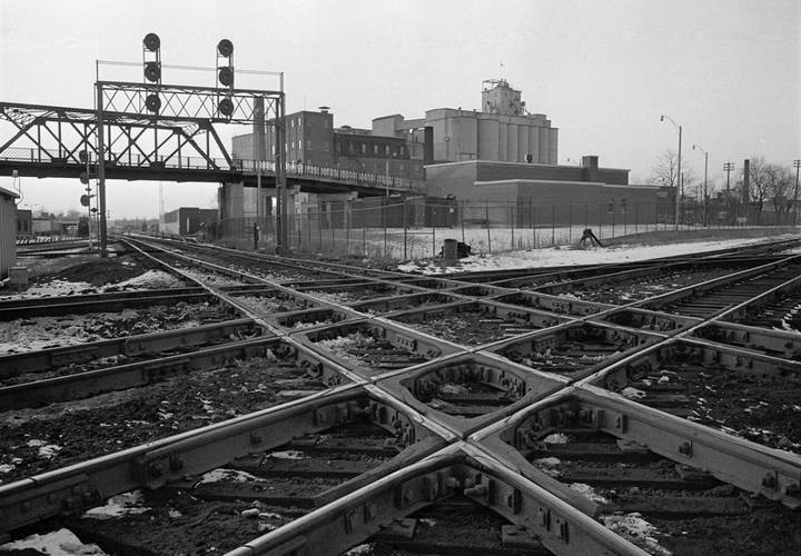 The west toronto diamond in january 1975