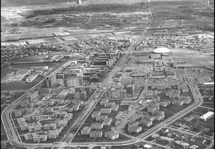 Don mills aerial 1960s triangle