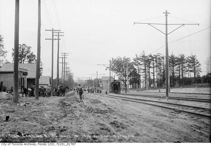 St. clair avenue west from dufferin street  july 19 1912