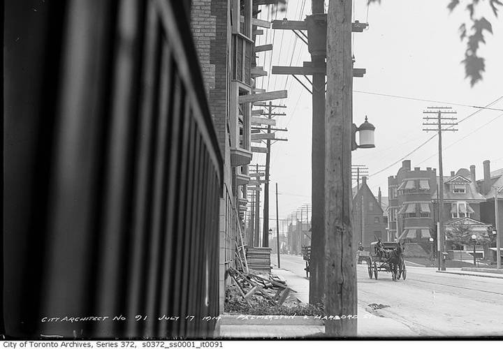 Palmerston avenue and harbord street  july 17  1914