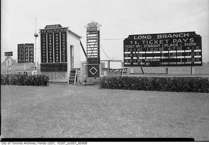 Signage  long branch race track  1930 1950