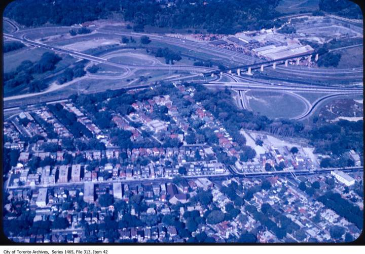 Don valley parkway at todmorden mills and brickworks  looking south west 1964  1972