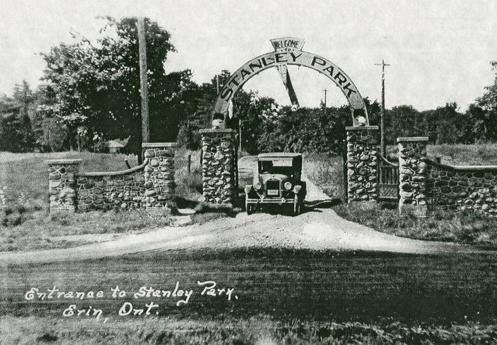 Entrance to stanley park in erin township
