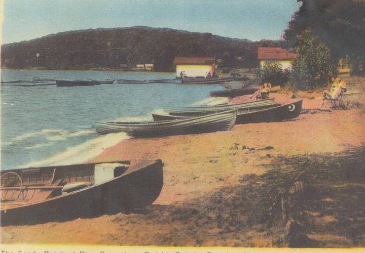 Pine grove inn beach  dwight  lake of bays  ontario in 1920s