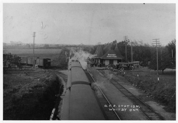 Whitby junction station 1918